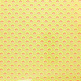 Petit pan coated cotton fabric - yellow Wasabi x 10cm