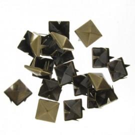 Griffes carré nickel bronze antique