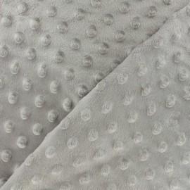 Dotted Minkee velvet fabric - Aurora yellow x 10cm