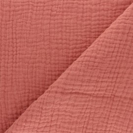 Plain Triple gauze fabric - Marsala x 10cm