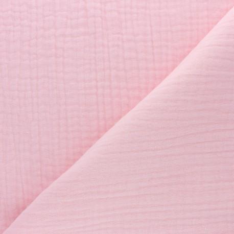 Plain Triple gauze fabric - blush pink x 10cm
