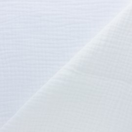 Plain Triple gauze fabric - white x 10cm