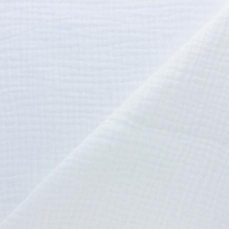 Plain Triple gauze fabric - white x 10cm