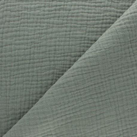 Plain Triple gauze fabric - mustard yellow x 10cm