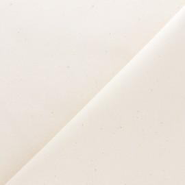 Tissu mousseline coton 110g/m2 - naturel x 10cm