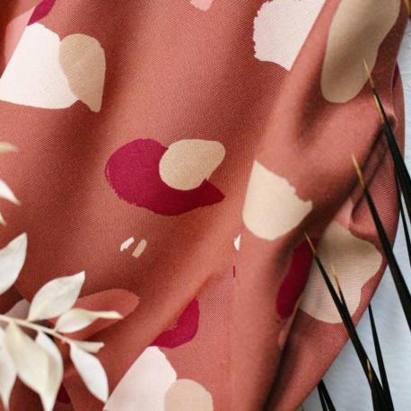 Atelier brunette Viscose fabric - Diamond Chestnut x 10cm