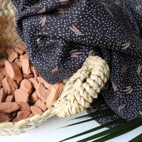 Atelier brunette Viscose fabric - Dune Night x 10cm
