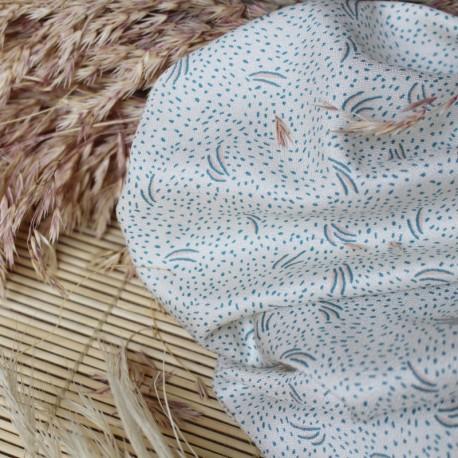 Atelier brunette Crepe Viscose fabric - Dune off-white x 10cm