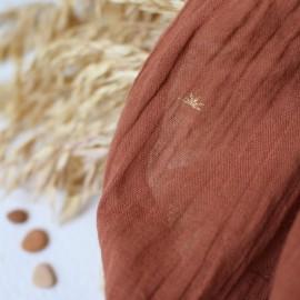 Tissu crépon de coton Atelier Brunette - Sunset Chestnut x 10cm