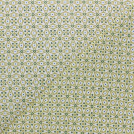 Tissu coton cretonne Faro - vert anis x 10cm