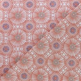 Tissu coton cretonne Bissau - Marsala x 10cm