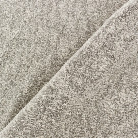 Fabric toweling jersey white x 10cm