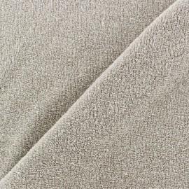 Tissu éponge jersey gris souris x 10cm