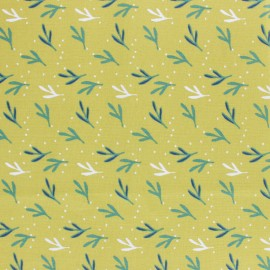 Cretonne cotton fabric - green Farizo x 10cm