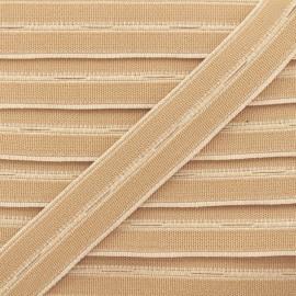 Elastique Boutonnière Haute Qualité 20 mm - Beige x 1m