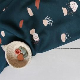 Viscose fabric Atelier brunette - Moonstone green x 10cm