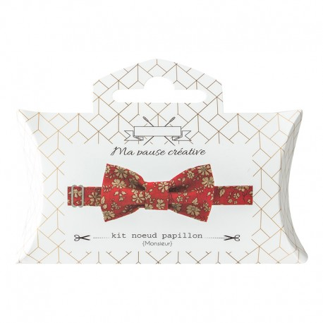 Liberty Bow Tie Sewing Kit - Red Capel