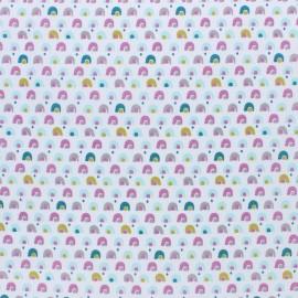 Tissu coton cretonne Lazou - rose x 10cm
