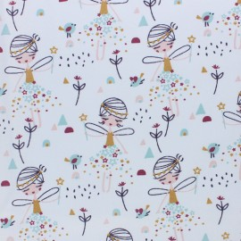 Cretonne cotton fabric - white Corasie x 10cm