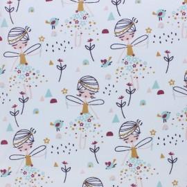 Tissu coton cretonne Corasie - blanc x 10cm