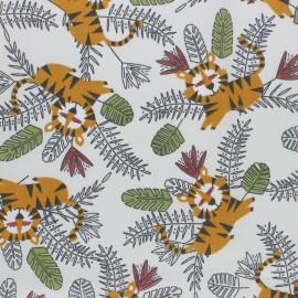Tissu coton cretonne Moko - écru x 10cm