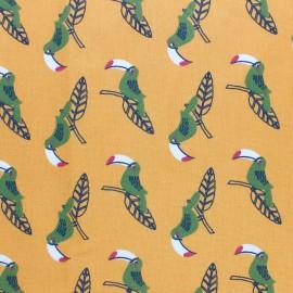 Tissu coton cretonne Nalik - jaune x 10cm