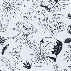 Tissu coton à colorier Lezozio - noir/blanc x 10cm