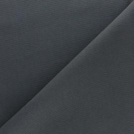 Tissu toile de coton demi natté Sequoia - Plomb x 10cm