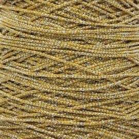 1,5 mm Lurex Cord - Yellow/Silver Filo x 1m