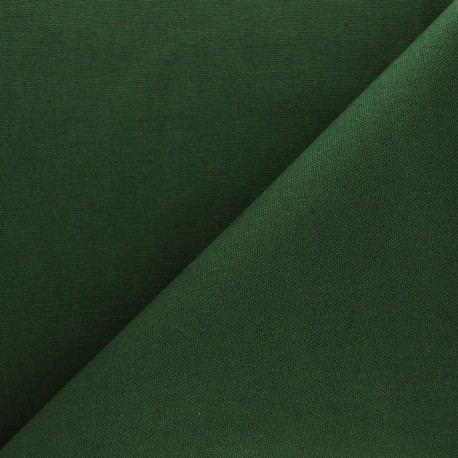 Tissu toile de coton demi natté Sequoia - vert sapin x 10cm