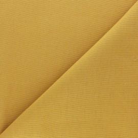 Tissu toile de coton demi natté Sequoia - moutarde x 10cm