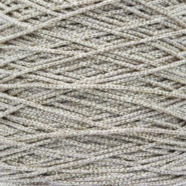 1,5 mm Lurex Cord - Beige/Gold Filo x 1m