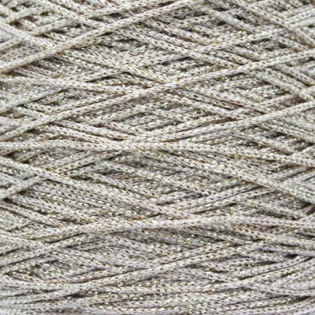 Cordon Lurex Filo 1,5 mm - Beige/Doré x 1m