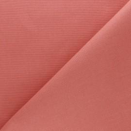 Tissu toile de coton demi natté Sequoia - Marsala x 10cm