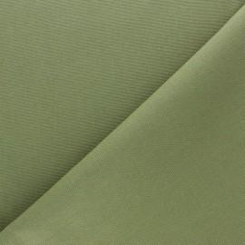 Tissu toile de coton demi natté Sequoia - vert kaki x 10cm