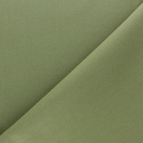 Half Canvas Cotton fabric - Khaki green Sequoia x 10cm
