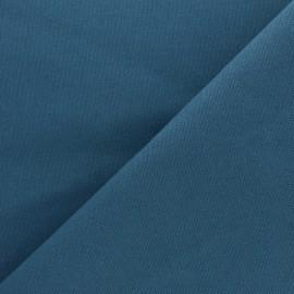 Tissu toile de coton demi natté Sequoia - vert paon x 10cm