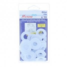 Oeillet Spécial Extérieur 12 mm (Pack de 10) - Blanc