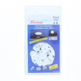 Bouton Pression Spécial Toile (Pack de 8) - Blanc