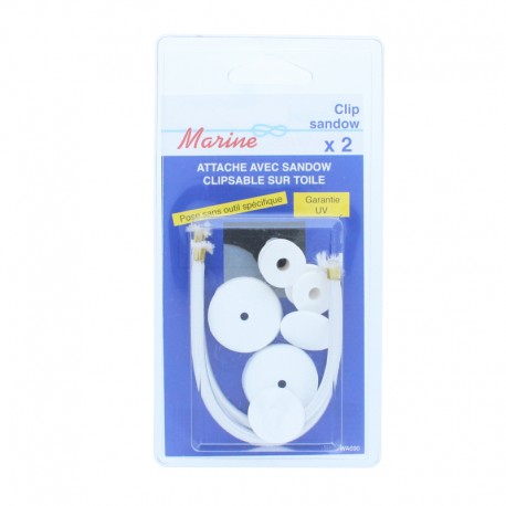Shock Cord Clip (2 Pack) - White