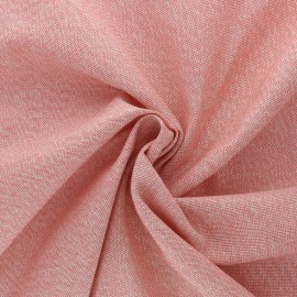 Polycotton fabric - Coral pink Cubex x 10cm