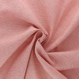 Tissu toile polycoton Cubex - rose corail x 10cm