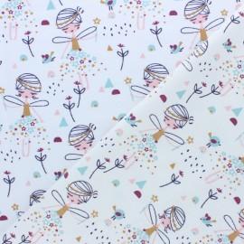 Jersey cotton fabric - white Corasie x 10cm