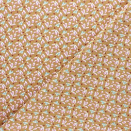Jersey cotton fabric - Toffee Tipavao x 10cm