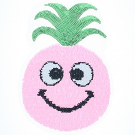 Reversible Sequin Sewing Patch - Pink Pineapple