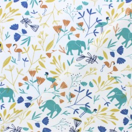 Jersey cotton fabric - white Corasie x 10cm