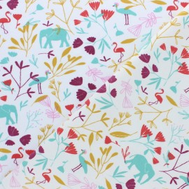 Jersey cotton fabric - Blue Jinjua x 10cm