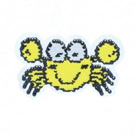 Écusson à Coudre Réversible Crabe - Jaune