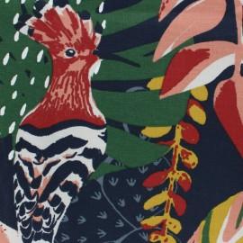 Tissu toile de coton Jaffna - bleu indigo x 50cm