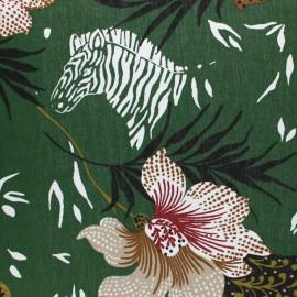 Tissu toile de coton Lossi - vert foncé x 50cm